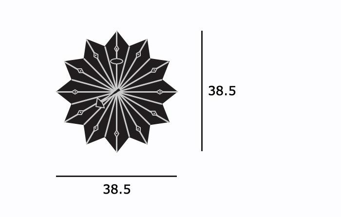Fan Clockサイズ