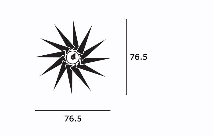 Turbine Clockサイズ