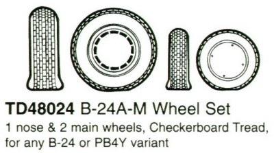 【新製品】48024)B-24A-M リベレーター ホイール&タイヤ