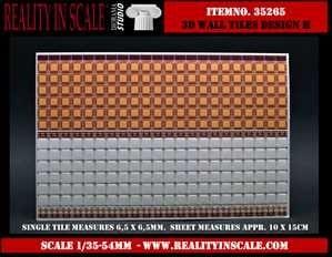 【新製品】35265)3D 壁のタイルセット- デザイン H