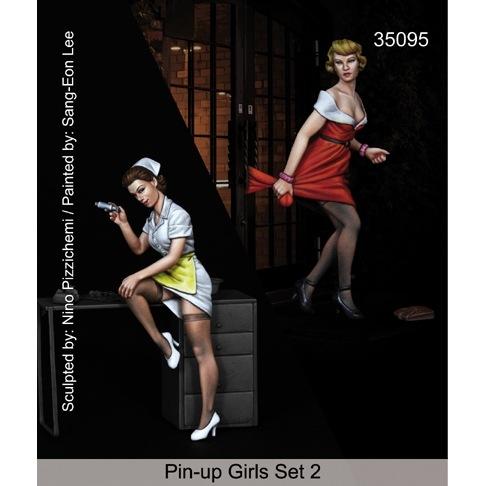 【新製品】35095)ピンナップガールセット 2(2体セット)