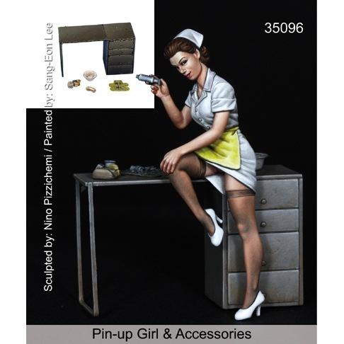 【新製品】35096)ピンナップガール#4 & 野戦病院セット