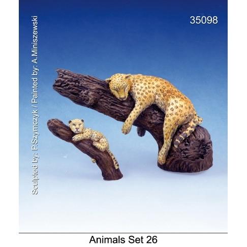 【新製品】35098)動物セット26 樹上の豹
