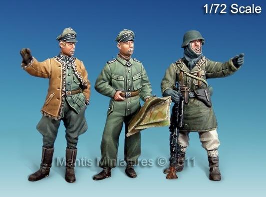 【新製品】72001)WWII独 将校セット(3体セット)