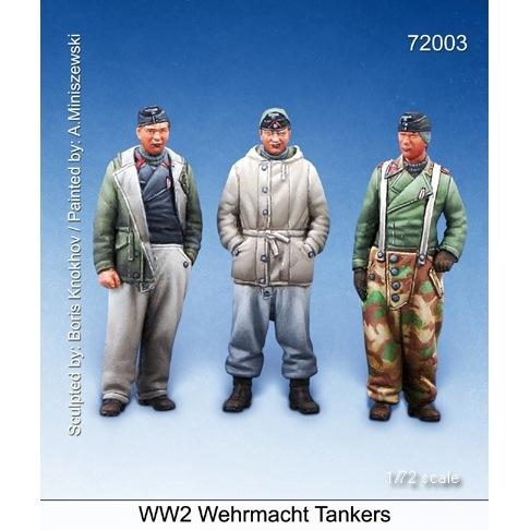 【新製品】72003)WWII 独 国防軍戦車兵セット(3体セット)