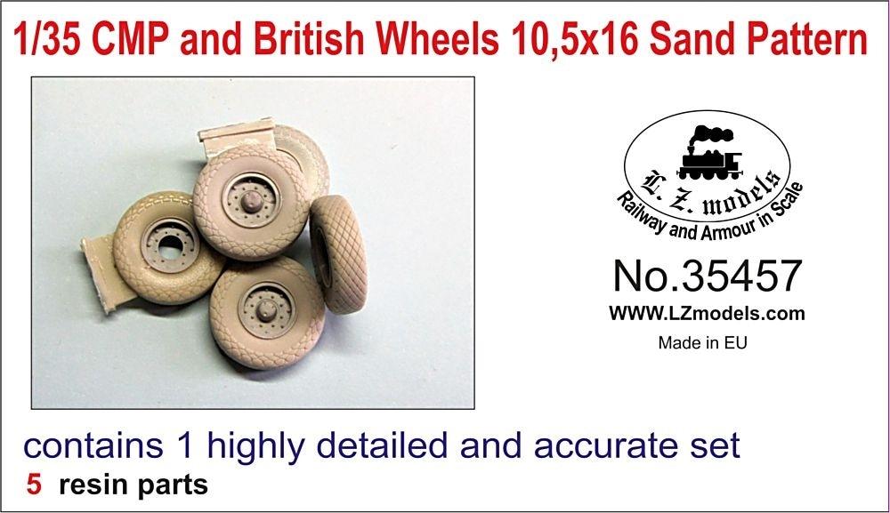 【新製品】LZ35457)WWII 英 CMP及び英軍トラック用 10.5x16 砂漠タイヤセット(汎用)