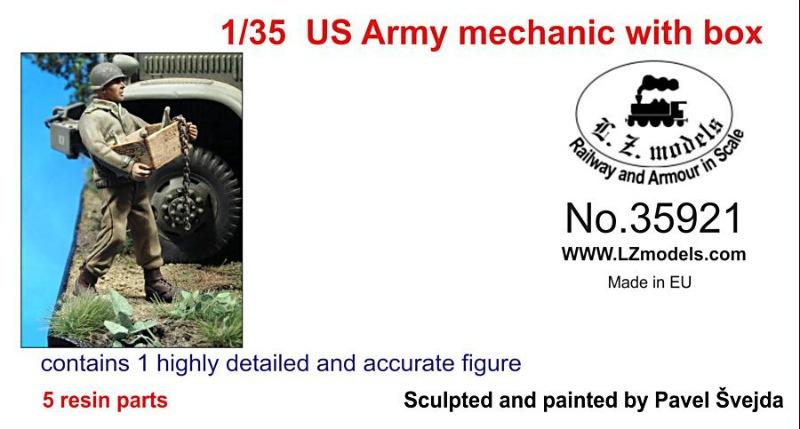 【新製品】LZ35921)WWII 米 木箱を運ぶメカニック
