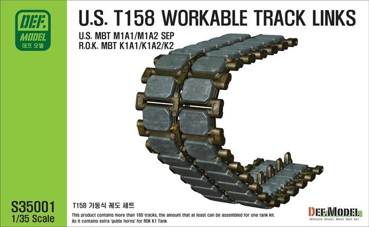 【新製品】S35001)M1A1/A2 SEP エイブラムス T158 可動キャタピラ