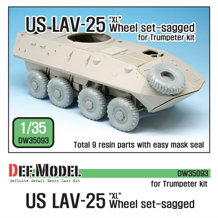 【新製品】DW35093)現用米 LAV-25 'XL' 自重変形タイヤセット
