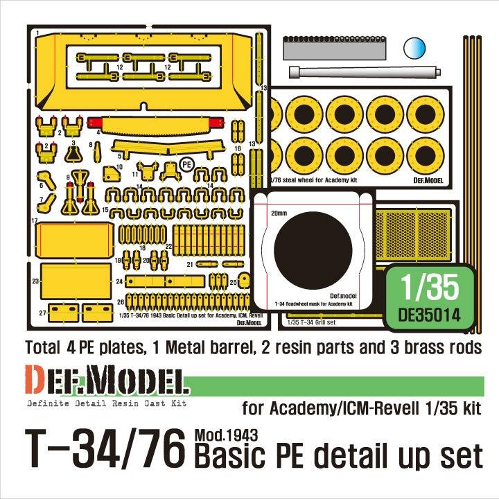【新製品】DE35014)WWII 露 T-34/76 ベーシックエッチングパーツセット