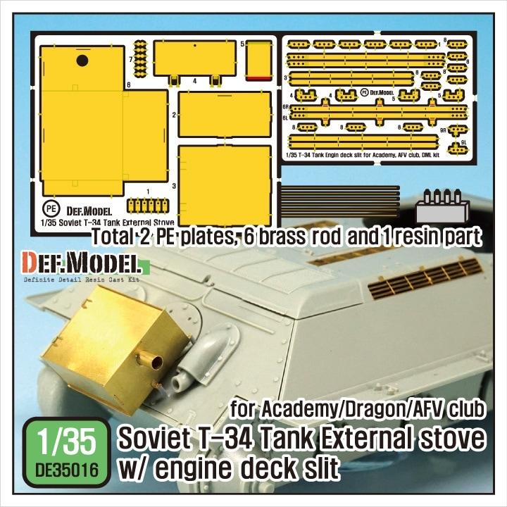 【新製品】DE35016)T-34 外付けストーブ w/エンジンデッキスリットセット