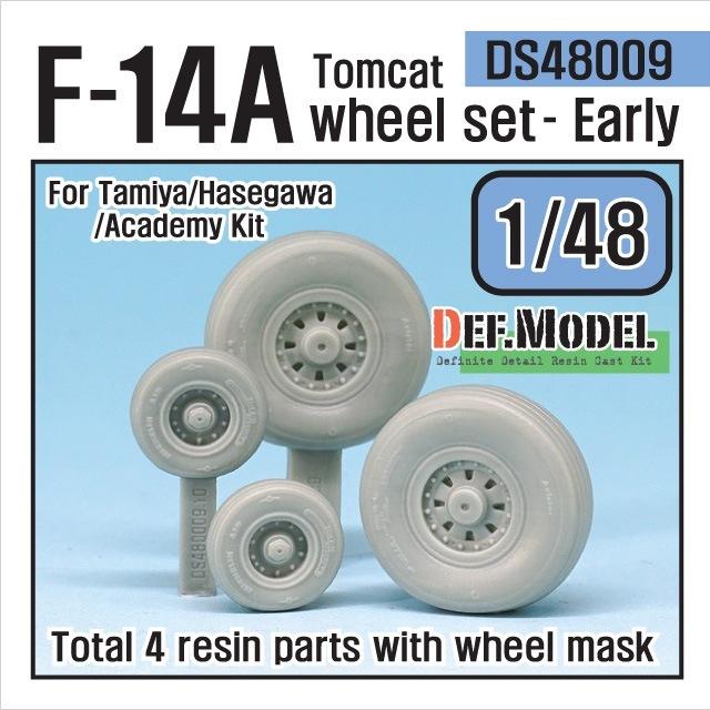【新製品】DS48009)F-14A トムキャット 初期型自重変形タイヤセット