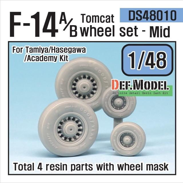 【新製品】DS48010)F-14A/B トムキャット 中期型自重変形タイヤセット