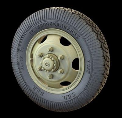 【新製品】RE35-392)露 ZiS-151軍用トラック用タイヤホイール ヤロスラーフスキー工場