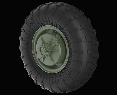 【新製品】RE35-399)露 BRDM-2装綸装甲車用タイヤホイール