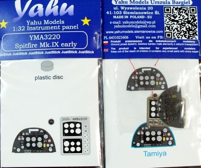 【新製品】YMA3220)スピットファイアMk.IX 初期型 計器盤