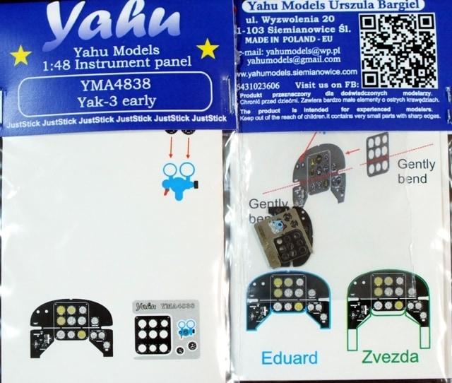 【新製品】YMA4838)Yak-3 初期型 計器盤