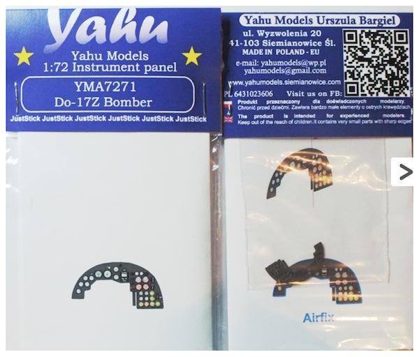 【新製品】YMA7271)ドルニエ Do17Z 計器盤