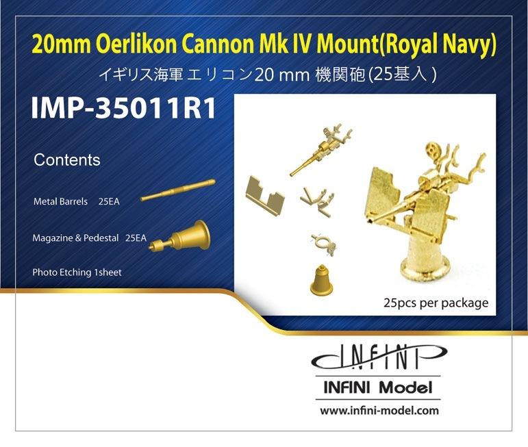 【新製品】IMP-35011R1)英・エリコン20mm機関砲(25基入)