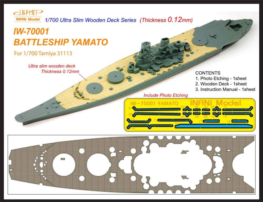 【新製品】IW-70001)戦艦 大和 木製甲板