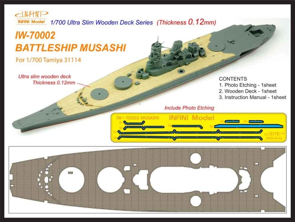 【新製品】IW-70002)戦艦 武蔵 木製甲板