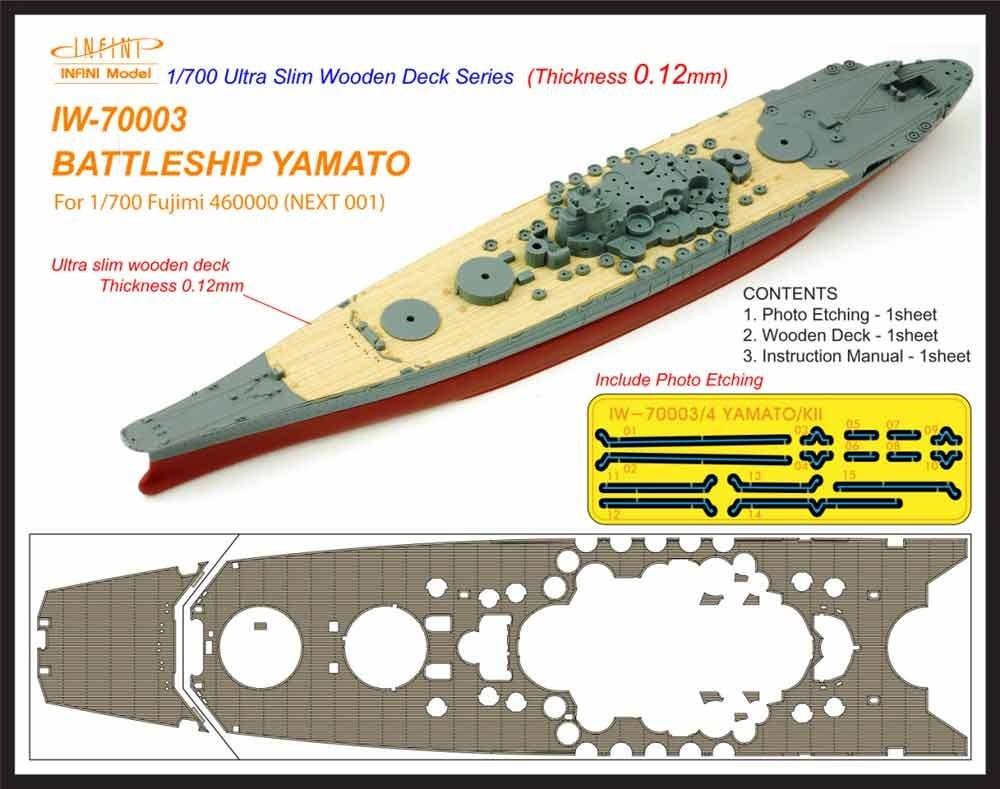 【新製品】IW-70003)戦艦 大和 木製甲板