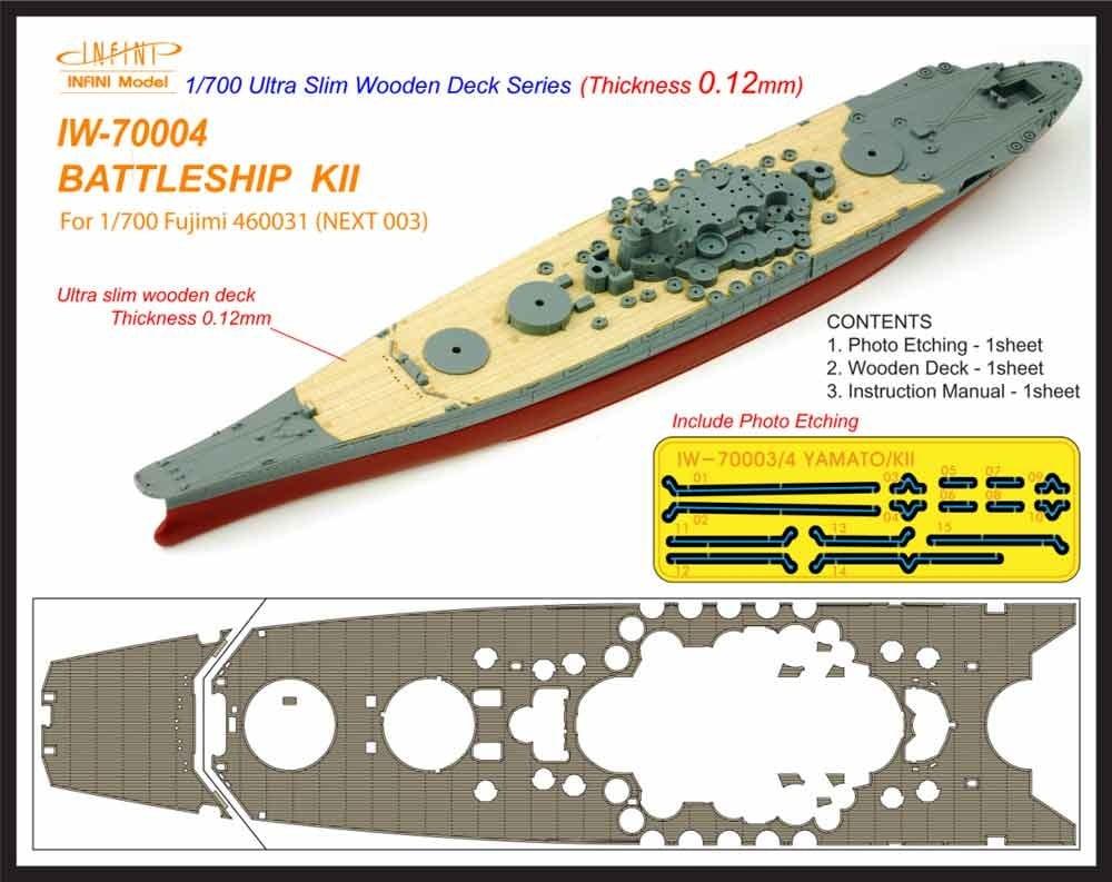 【新製品】IW-70004)戦艦 紀伊 木製甲板