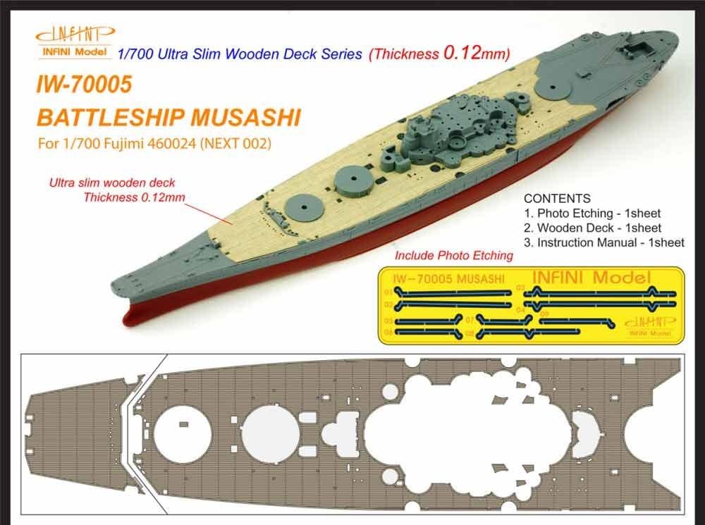 【新製品】IW-70005)戦艦 武蔵 木製甲板
