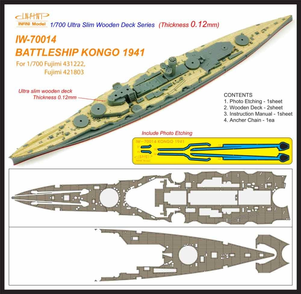【新製品】IW-70014)戦艦 金剛 1941 木製甲板