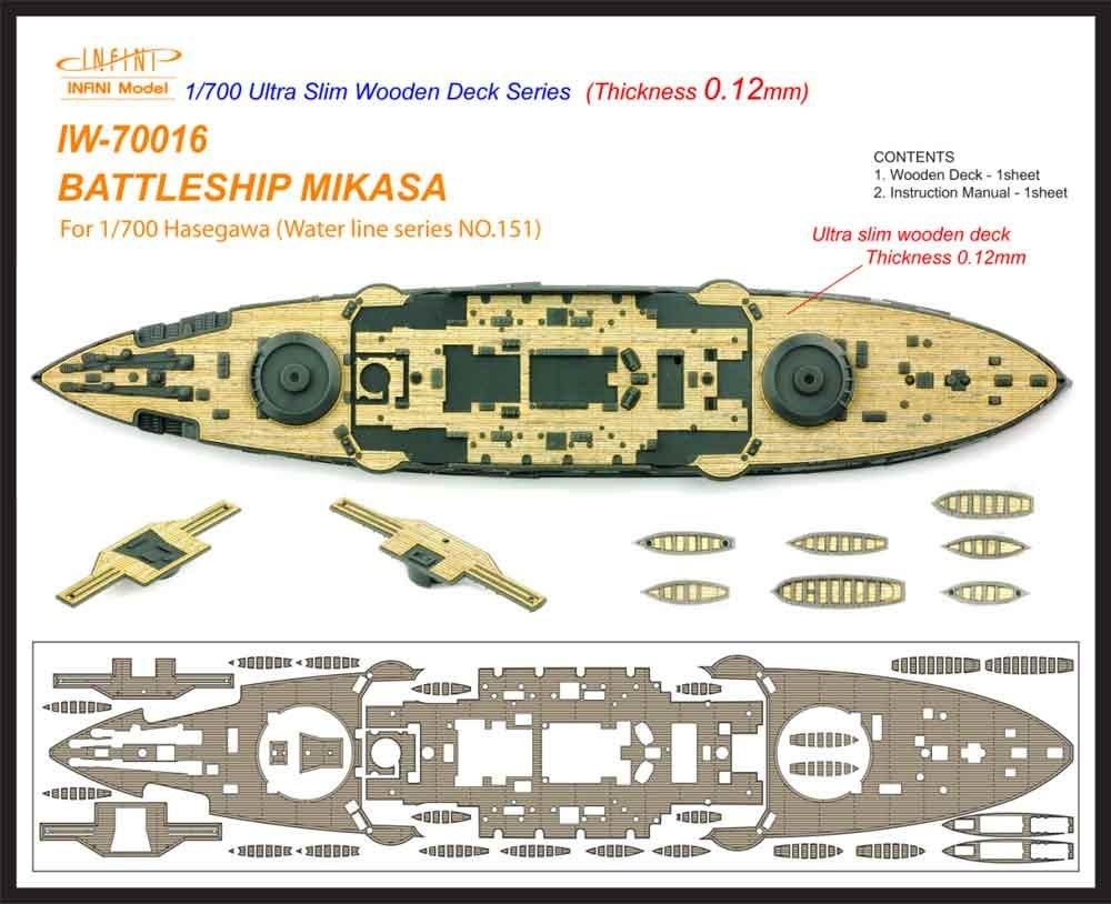 【新製品】IW-70016)戦艦 三笠 木製甲板