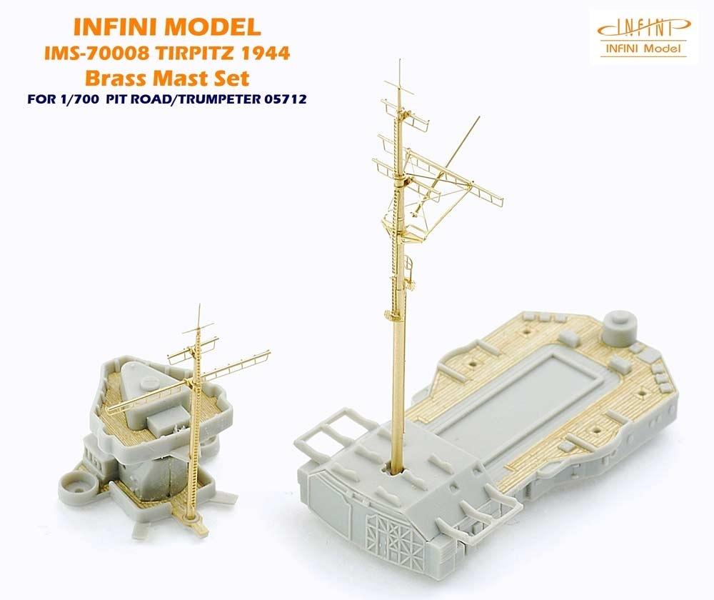 【新製品】IMS-70008)戦艦 ティルピッツ 1944 真鍮マストセット