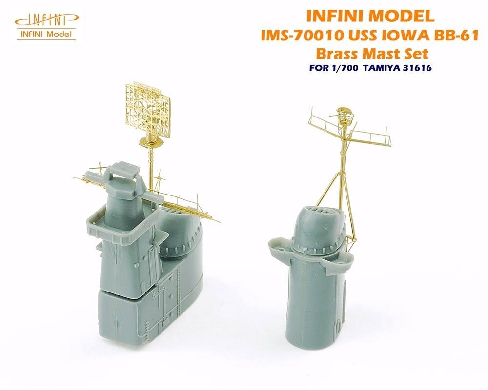 【新製品】IMS-70010)戦艦 アイオワ 真鍮マストセット