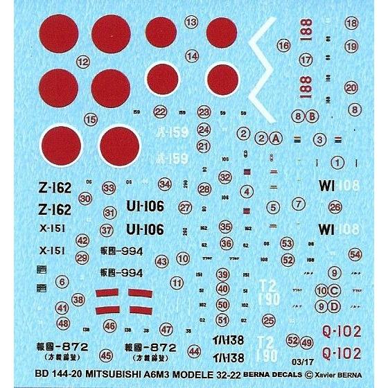 【新製品】BD144-20)A6M3 零式艦上戦闘機三二型/二二型