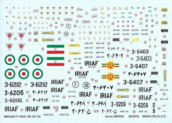 【新製品】BD48-122)ダッソー ミラージュ F.1C/B イラン空軍