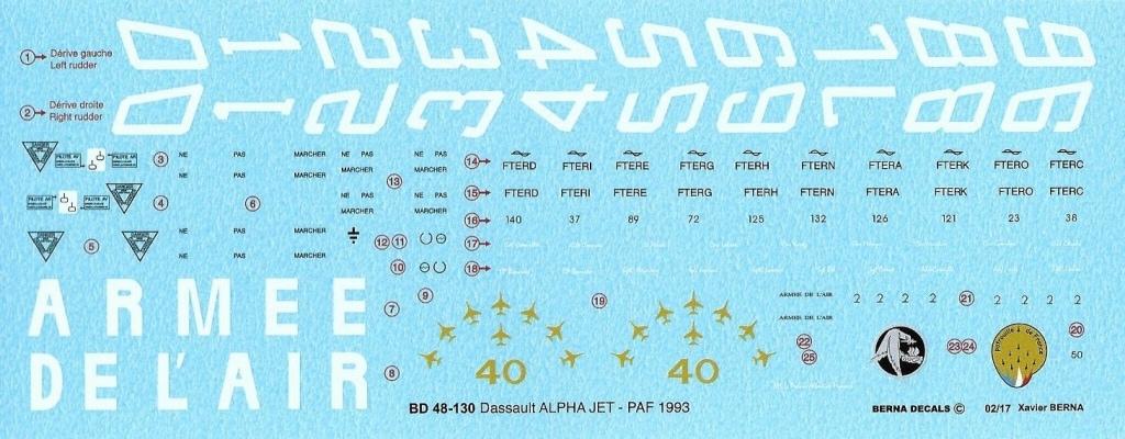 【新製品】BD48-130)ダッソー アルファ ジェット 1993