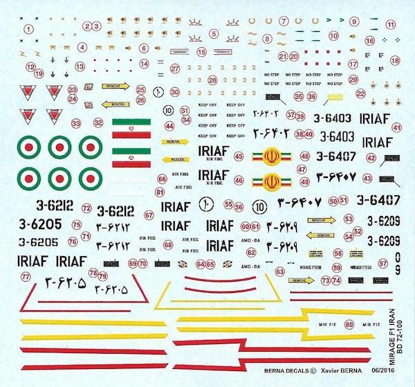 【新製品】BD72-100)ダッソー ミラージュ F.1C/B イラン空軍