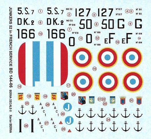 【新製品】BD144-06)ユンカース Ju52 フランス