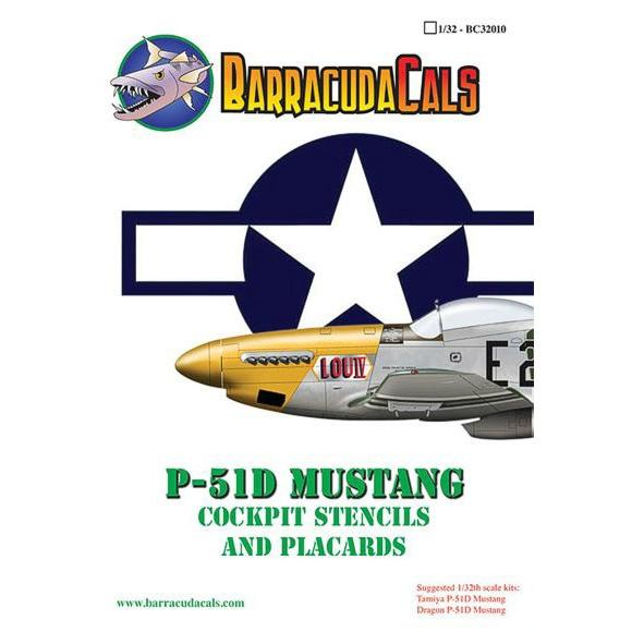 【新製品】32010)P-51D マスタング コクピットステンシル