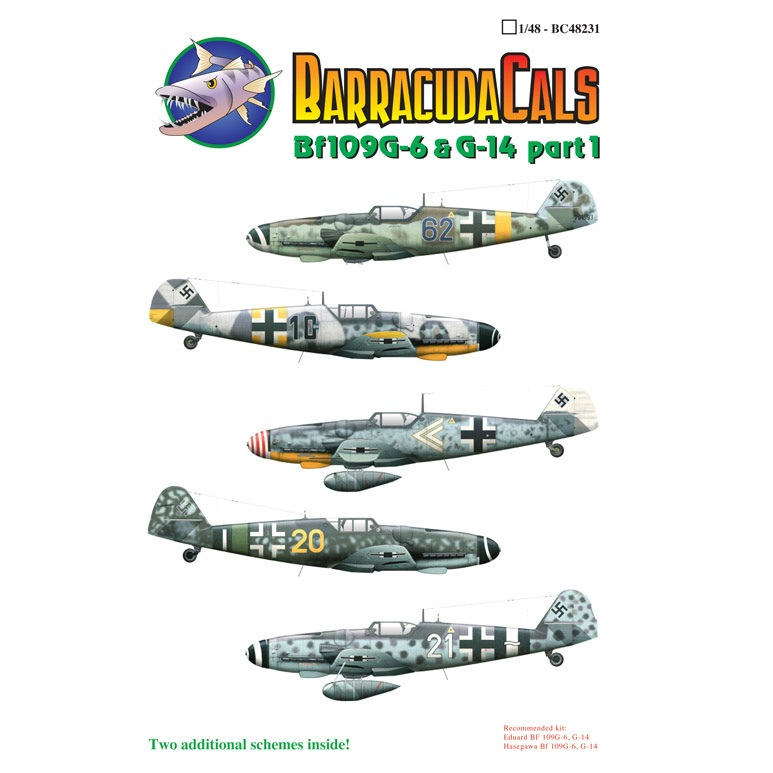 【新製品】48231)メッサーシュミット Bf109G-6 & G-14 Pt.1