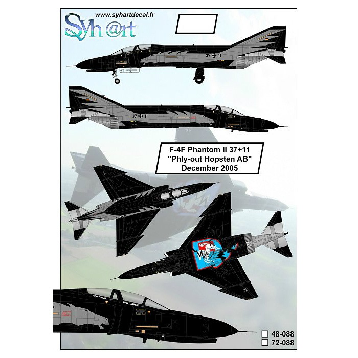 【新製品】72088)F-4F ファントムII 37+11 Phly-out Hopsten AB December 2005