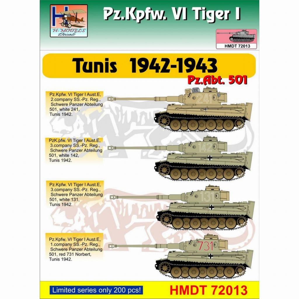 【新製品】HMDT72013)VI号戦車 ティーガーI チュニジア 1942-43年 第501重戦車大隊