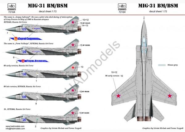 【新製品】D72164)MiG-31BM/BSM フォックスハウンド