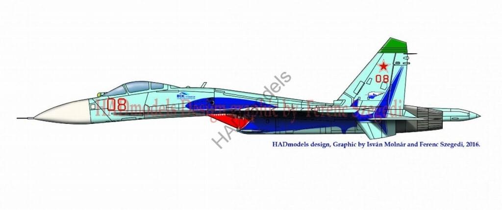 【新製品】D72171)Su-27 フランカーB シャーク
