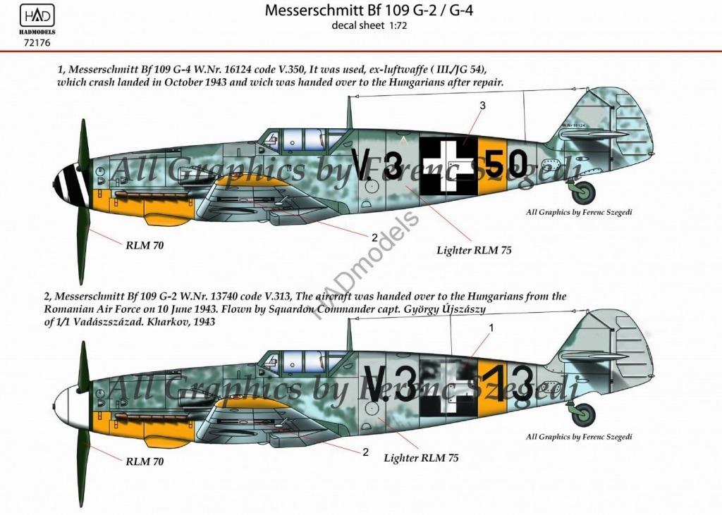 【新製品】D72176)メッサーシュミット Bf109G-2/G-4