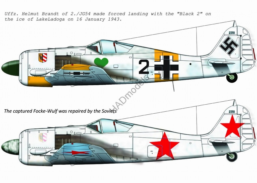 【新製品】D72179)フォッケウルフ Fw190A-4