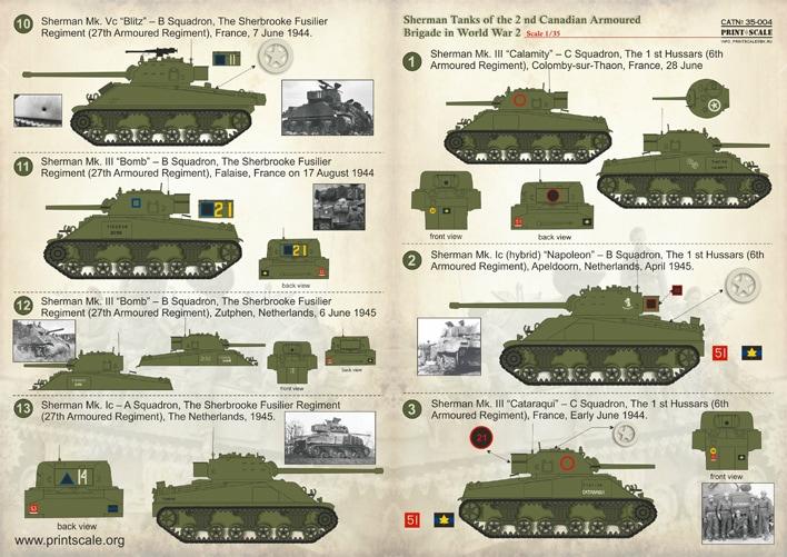 【新製品】35004)WWIIのシャーマン 第2カナダ機甲旅団