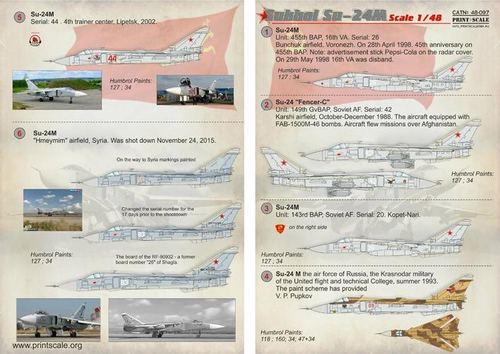 【新製品】48097)スホーイ Su-24M フェンサー