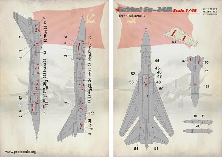 【新製品】48098)スホーイ Su-24M フェンサー テクニカルステンシル