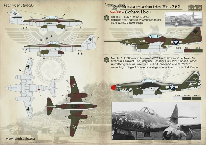 【新製品】48400)メッサーシュミット Me262 シュワルベ