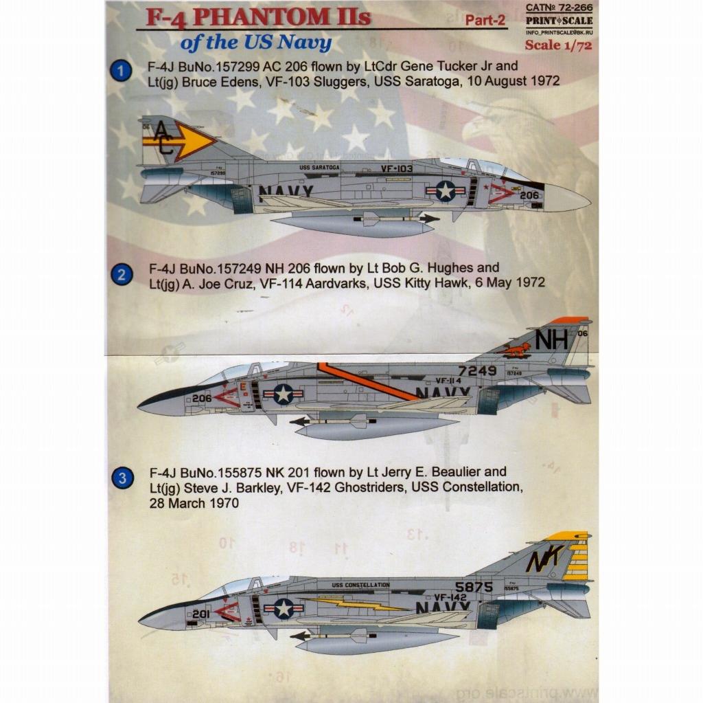 【新製品】72266)F-4 ファントムII アメリカ海軍 Pt.2